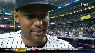 Aaron Hicks on his go-ahead HR & Yankees 4-2 win over the Mets. Sub...