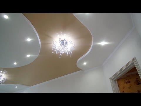 потолок из гипсокартона своими руками и фото