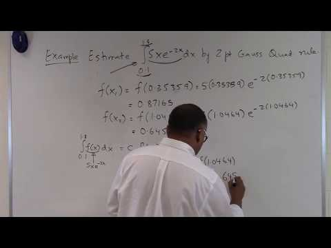 Two Point Gauss Quadrature Rule: Example