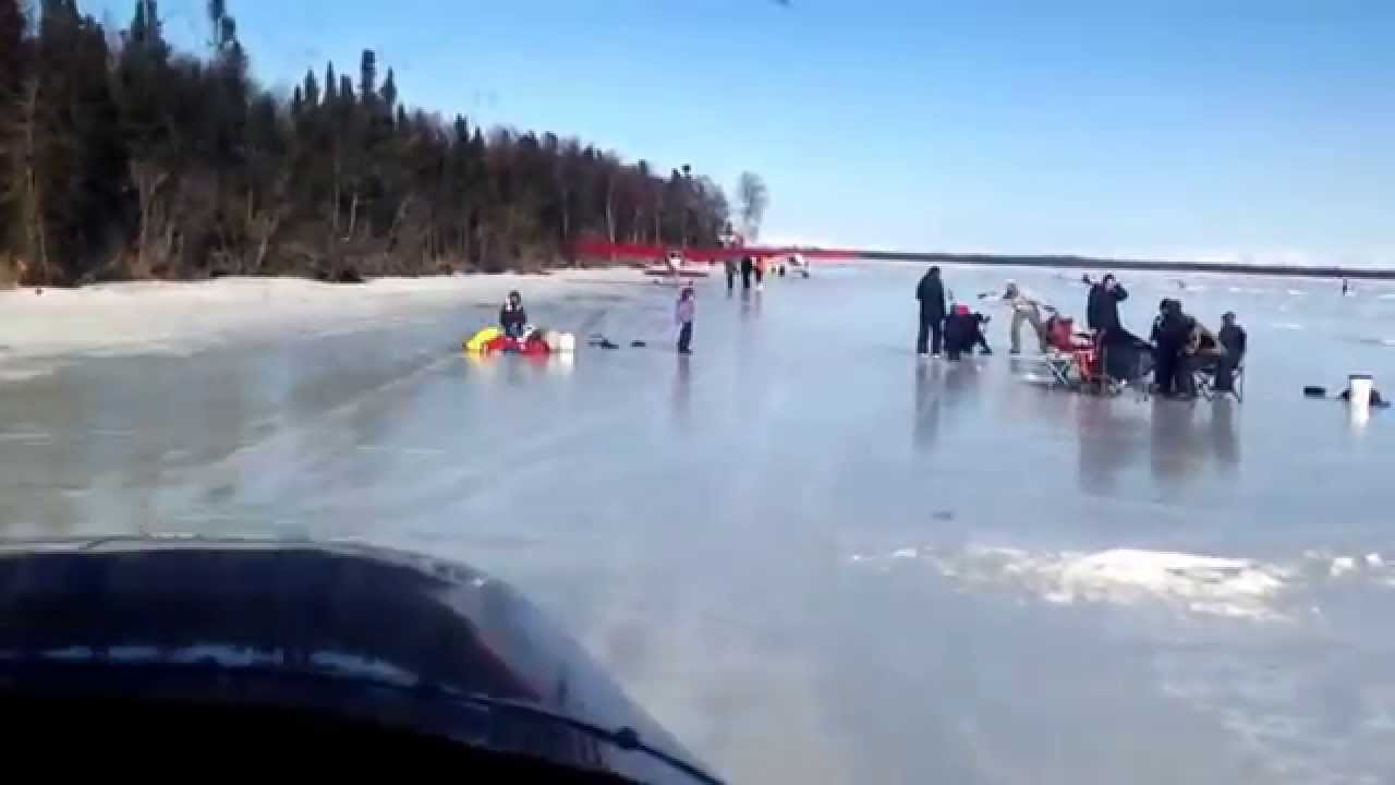 Alaska ice fishing airplane trip 2014 youtube for Alaska out of state fishing license