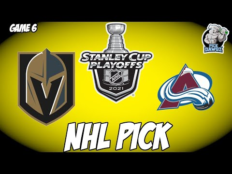 Vegas Golden Knights vs Colorado Avalanche 6/10/21 Free NHL Pick and Prediction NHL Betting Tips