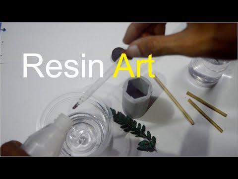 MEMBUAT GANTUNGAN KUNCI DARI RESIN BERISI DAUN (bagian 1) | Resin Art