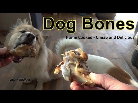 Dog Bones, Cooking Pork Knuckle Bones For The Dogs.
