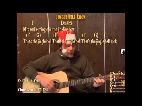 Jingle Bell Rock (Christmas) Strum Chord Guitar Cover Lesson with ...