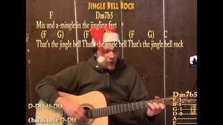 Jingle Bell Rock (Christmas) Strum Chord Guitar Cover Lesson with Lyrics Sing and Play