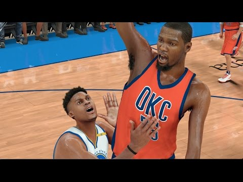 What If Kevin Durant Stayed In OKC And Westbrook Went To The Golden State Warriors? NBA 2K17