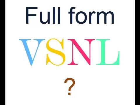 VSNL Full Form ?
