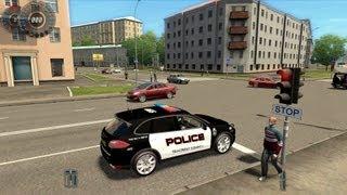 City Car Driving Porsche Cayenne Turbo Police Version [1080p]