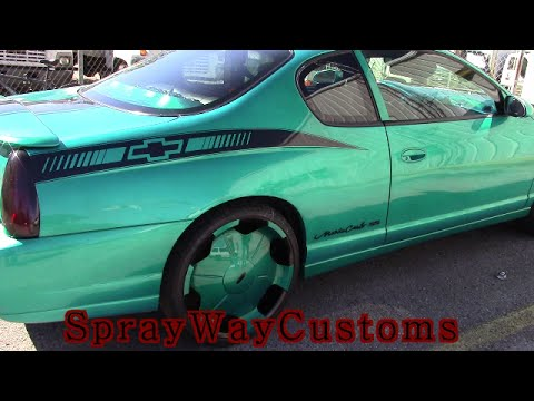 2000 Monte Carlo Ss Candy Teal On 22 S With Fibergl Dash Door Panels And Rear Deck