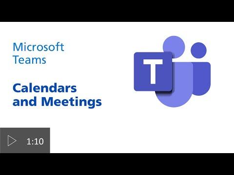 Calendar and Meetings