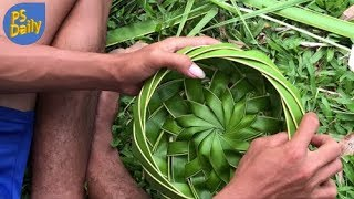 Primitive Technology: Coconut Leaf Bowl