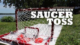 DIY Hockey Saucer Toss