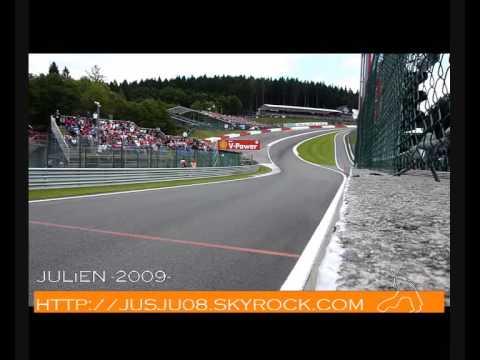BEST F1 Sound exhaust V8 Redbull Ferrari McLaren Spa Francorchamps 2009
