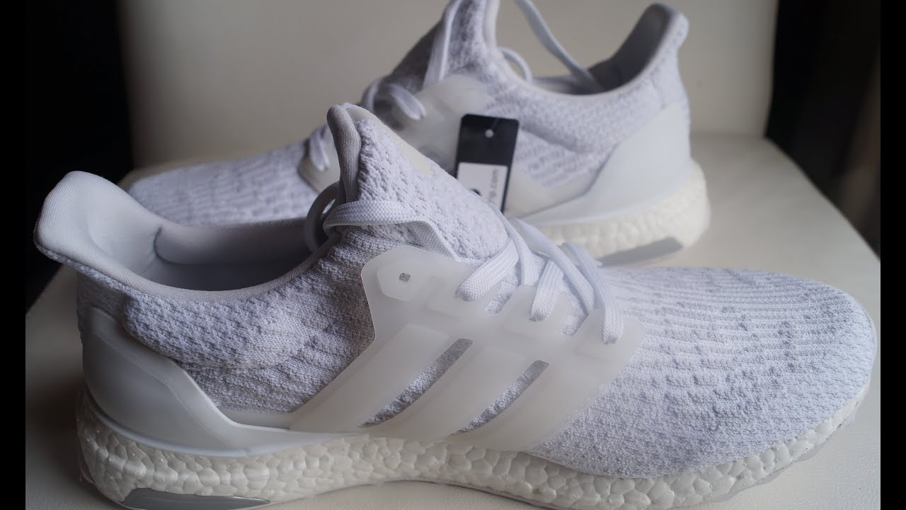 timeless design bc81f ec350 Review y Unboxing Adidas Ultra Boost blancos   triple white