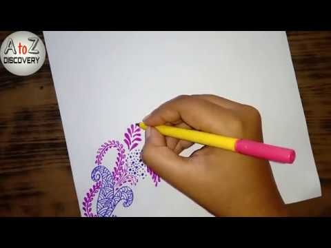 One corner paper decoration design | File paper decoration idea | Simple border design