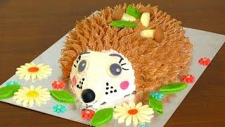 3 д Торт ЁЖИК мастер-класс как украсить торт кремом Cake hedgehog master class