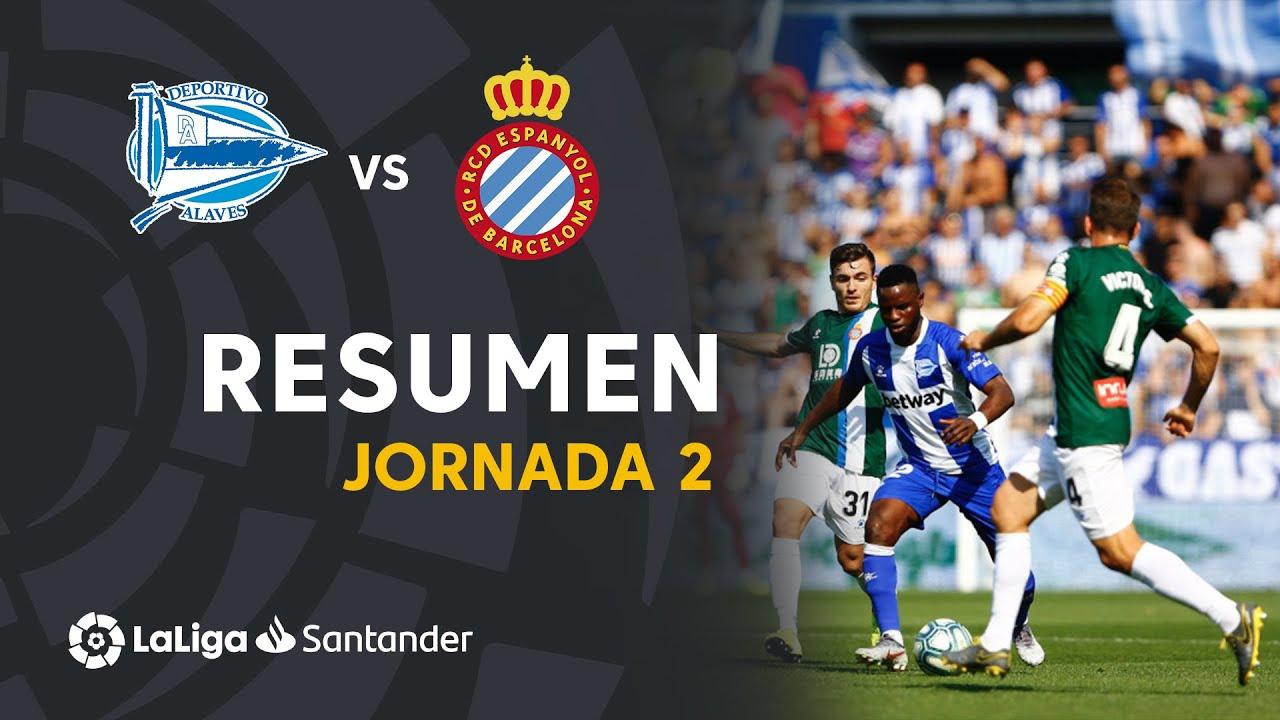Resumen De Deportivo Alaves Vs Rcd Espanyol 0 0 Youtube