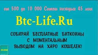 Btc-Live.Ru - сайт, который платит моментально на Харо кошельки!