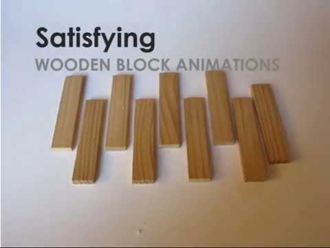 Satisfying Wooden Blocks Animations: Awesome Cadecraft Stopmotion