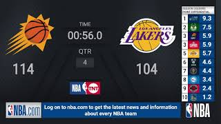 Suns @ Lakers | NBA on TNT Live Scoreboard