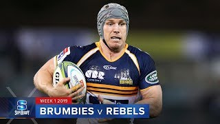 HIGHLIGHTS: 2019 Super Rugby Week 1 Brumbies v Rebels
