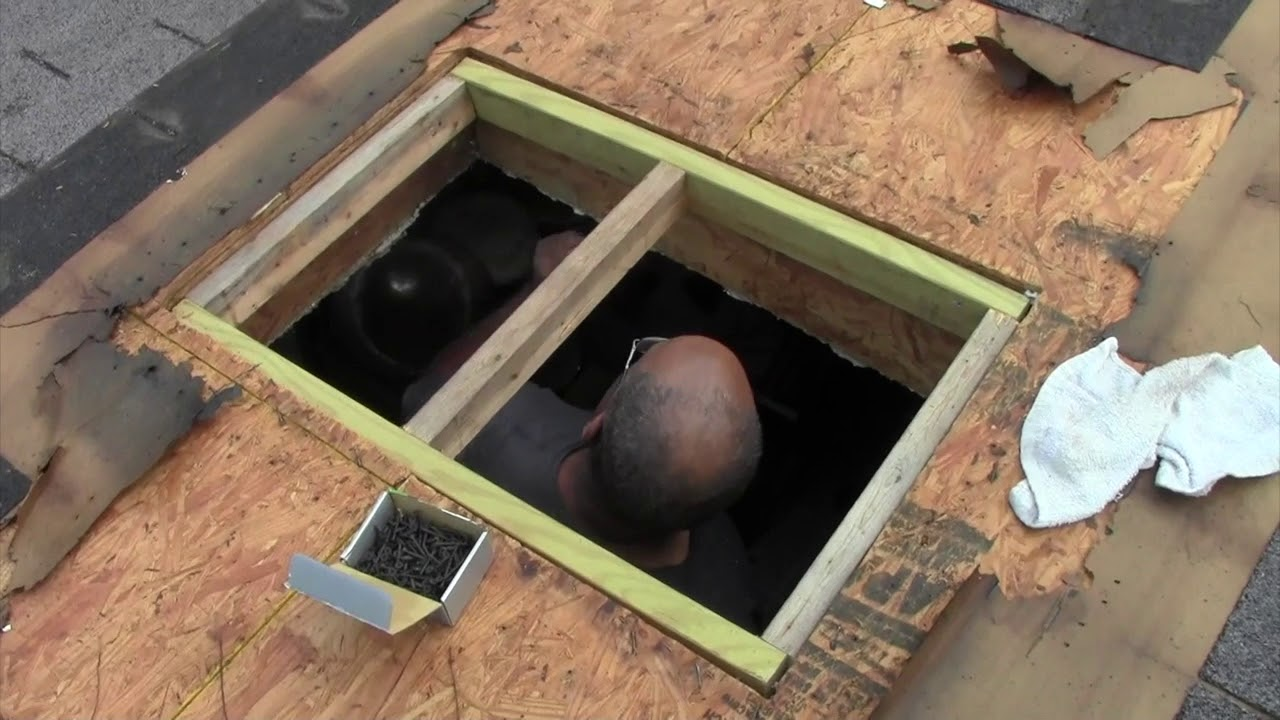 Remove Skylight And Repair Roof You
