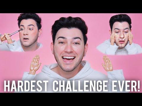 TINY HANDS MAKEUP CHALLENGE! Hardest Challenge Ever...