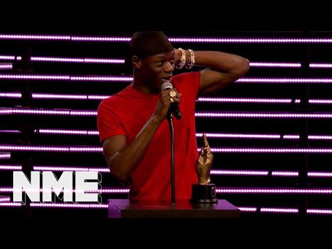 J Hus wins Best Album supported by Orange Amplification | VO5 NME Awards 2018
