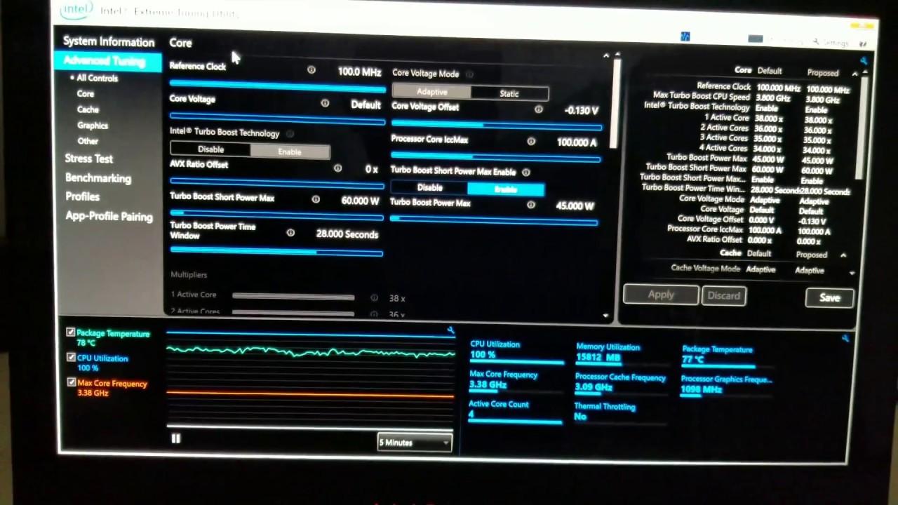 Alienware 13 R3 Undervolting to -130mv