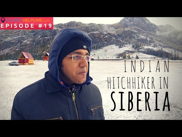 Indian hitchhiker in Siberia : Altai Mountains, Russia