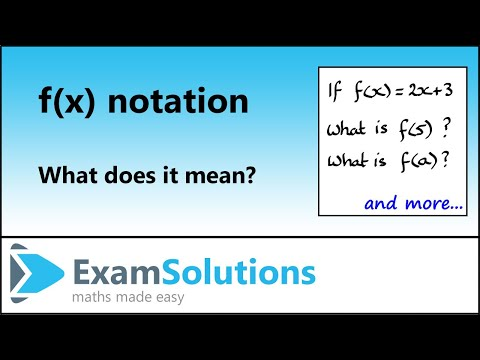 functions - f(x) notation : ExamSolutions