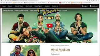Online Movie Booking System User Panel