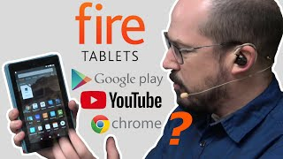 Amazon Fire Tablet with Google Play, YouTube and Chrome