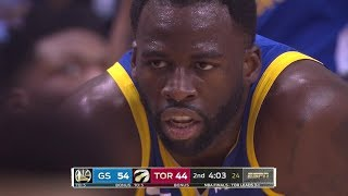 Draymond Green Gets T'd Up, Drake Taunts Him - Game 5 | Warriors vs Raptors | 2019 NBA Finals