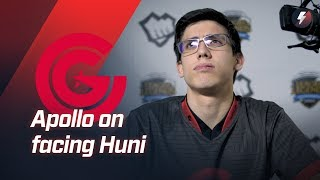 "Apollo on facing Huni: ""You see 6 people going to top side of the map... when you have a Shen."""