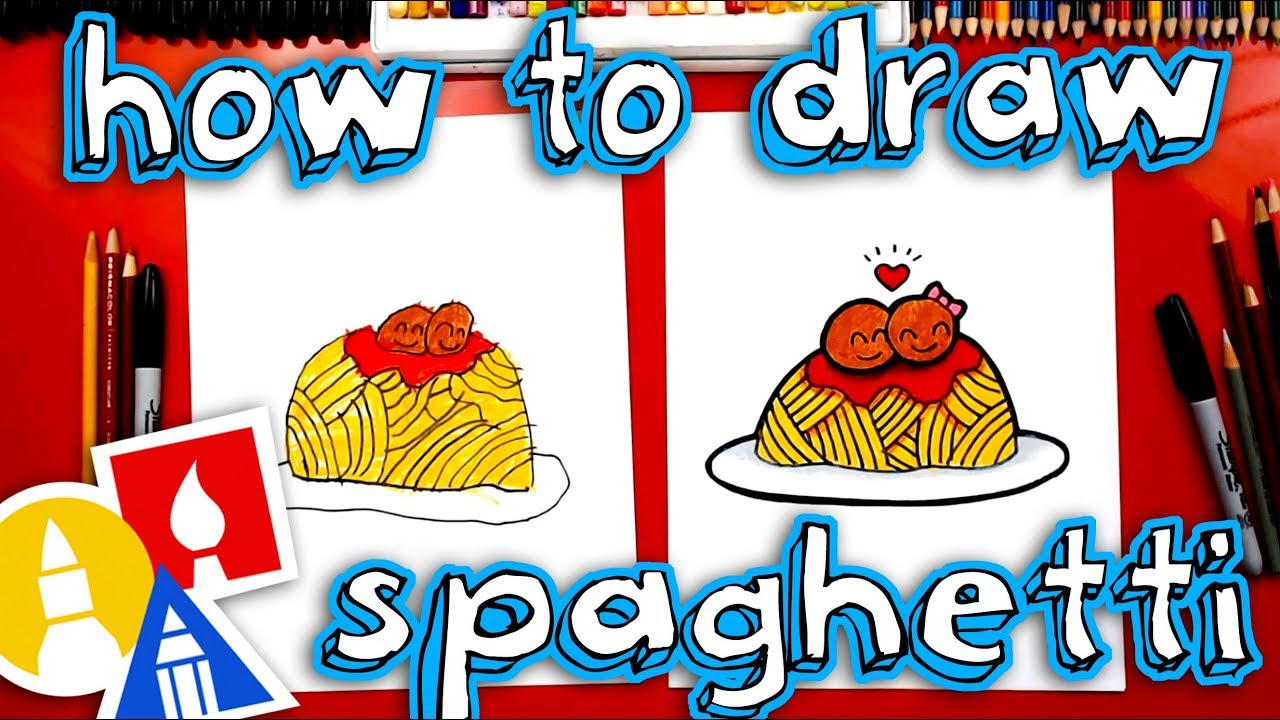 How To Draw Funny Spaghetti And Meatballs Youtube