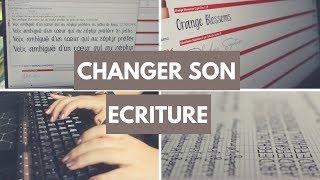 COMMENT CHANGER SON ÉCRITURE || Typhanie