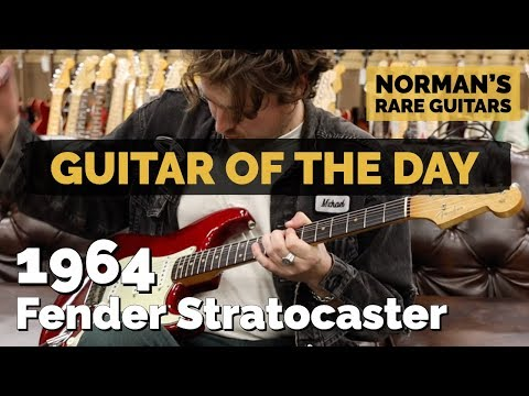 guitar-of-the-day:-1964-fender-stratocaster-custom-color-candy-apple-red-|-norman's-rare-guitars