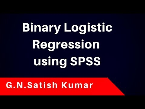 Binary Logistic Regression using SPSS