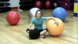 Упражнения с балансировочным диском Альпина Пласт(Представляем комплекс упражнений на ФИТДИСКЕ - балансировочном диске компании