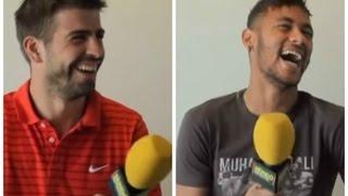 Gerard Piqué y Neymar, a carcajada con MD