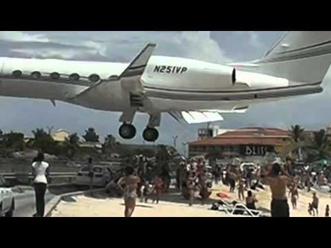 Pendaratan Extreme Pesawat Gulfstream di Princess juliana International