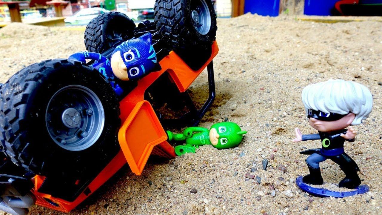 Герои в Масках попали в аварию! Видео с игрушками для ...