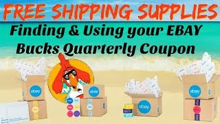 Free Shipping Supplies Finding \u0026 Using the EBAY Quarterly Coupon