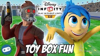 Joy and Star Lord Disney Infinity 3.0 Toy Box Fun Gameplay