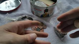 Westminster tin 2 of 3 old coins and interesting finds