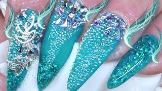 MERMAID PIXIE CRYSTAL.(acrylic nails)