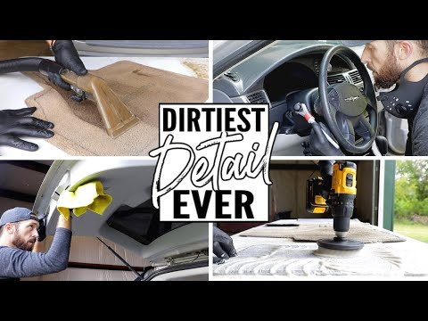 Complete Disaster Full Interior Car Detailing! Dirtiest Car Detailing Series Ep. 11