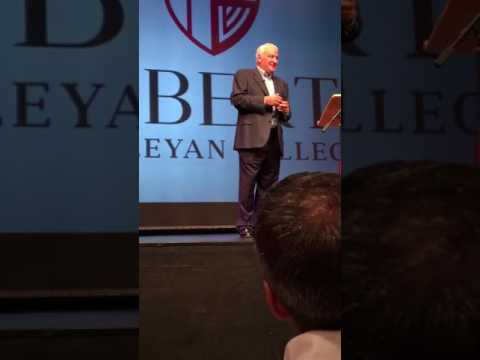 Tom Golisano speaking at Roberts Wesleyan College-10-14-16