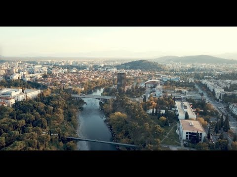 Gazela Bridge in Podgorica, Montenegro | Dronie 35